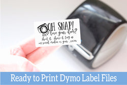 Oh Snap Love Your Purchase - Ready-to-Print Dymo compatible Label Designs - Rectangular Design