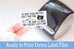 Open with Care - Ready-to-Print Dymo compatible Label Designs
