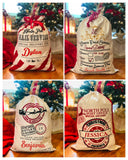 Personalized Santa Sacks for Christmas with Optional GPS Coordinates