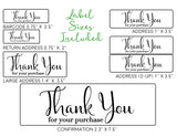 Thank You for Your Purchase - Ready-to-Print Dymo compatible Label Designs - Long Design