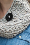 Chunky Cowl Scarf - Gray Marble Tweed