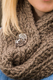 Chunky Cowl Scarf - Taupe Brown