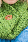 Chunky Cowl Scarf - Grass Green