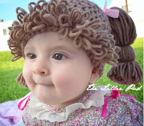 Cabbage Patch Kid Hat Crochet Pattern by The Lillie Pad 2cb5bffa684
