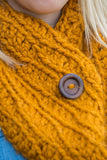 Chunky Cowl Scarves - Golden Butterscotch