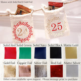 Handmade Christmas Advent Calendar color chart