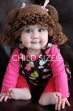 Cabbage Patch Kid Crochet Hat - Child Sizes (Ages 3-10)