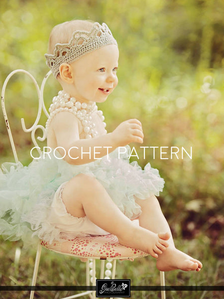 Crown Crochet Pattern - Girl Crown