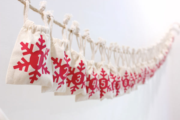 Christmas Advent Calendar Garland - Snowflake