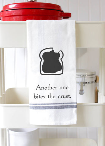 Funny Kitchen Towel - Another One Bites the Crust