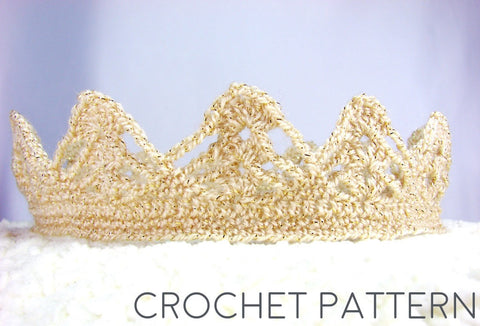 Crown Crochet Patterns Girl Boy Crowns Set Of 2 Patterns The