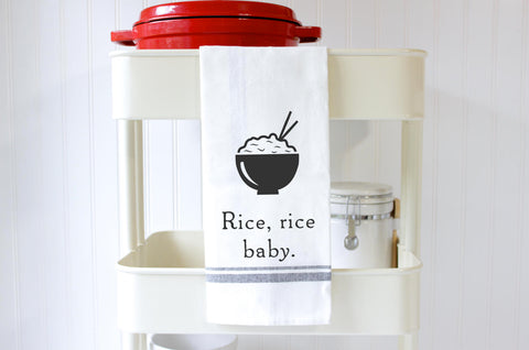 Funny Kitchen Towel - Rice Rice Baby