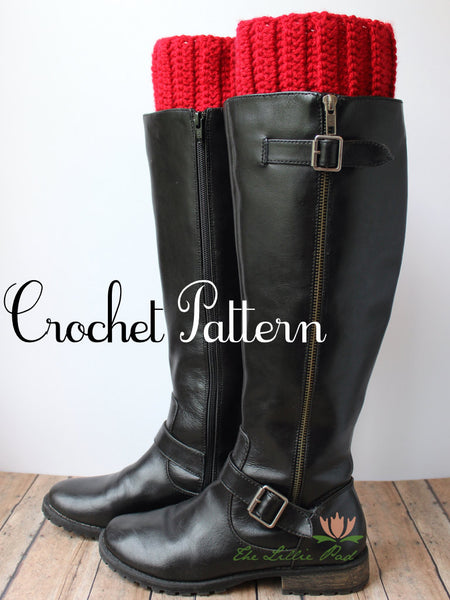 Boot Cuff Crochet Digital Download Pattern