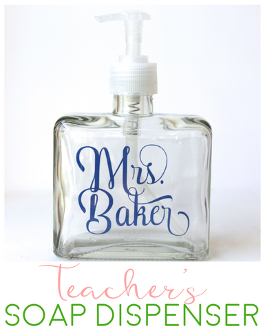 Soap Dispenser - Personalized Teacher Gift
