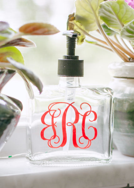 Personalized Monogram Soap Dispenser