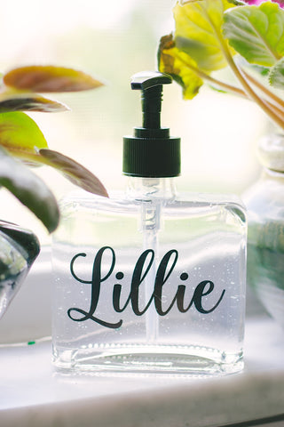 Personalized Name Soap Dispenser