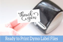 Thank You - Ready-to-Print Dymo compatible Label Designs - Rectangular Design