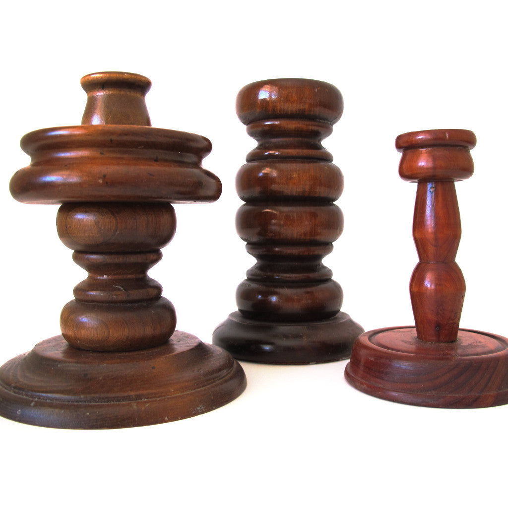 Wooden Candleholders - Assorted
