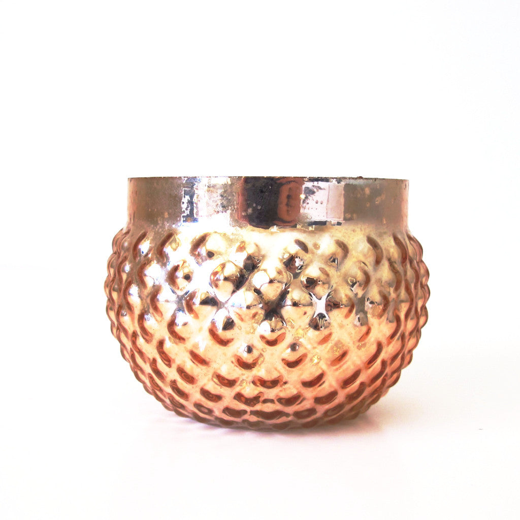 Rose Gold Bulb Votive