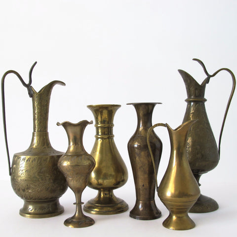 Assorted Brass Bud Vases