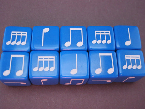 19mm Notes Dice--Set of 10