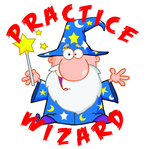 Practice Wizard Temporary Tattoo
