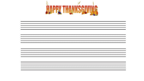 Intermediate Staff Paper--Thanksgiving Themed