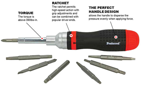 19-In-1 Ratcheting Screwdriver & Bit Set