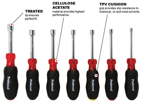 Hollow Shank Nut Driver Set - 7 pc.
