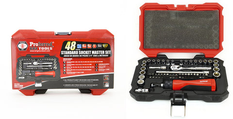 "1/4"" Drive Standard Socket Master Set- 48 Piece"