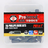 Phillips Drive Bits- 20 pack