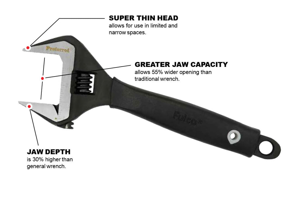 Plumbing Adjustable Wrench Proferred brand – Proferred Tools by Lubker