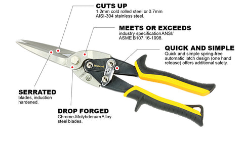 Long Cut Aviation Snips