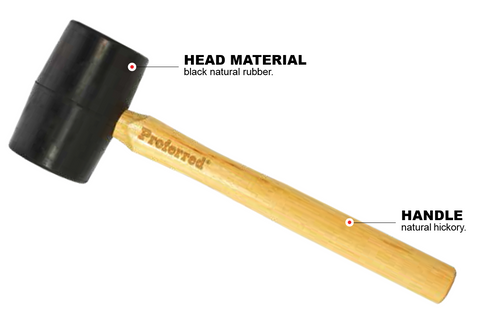 16 oz Rubber Mallet