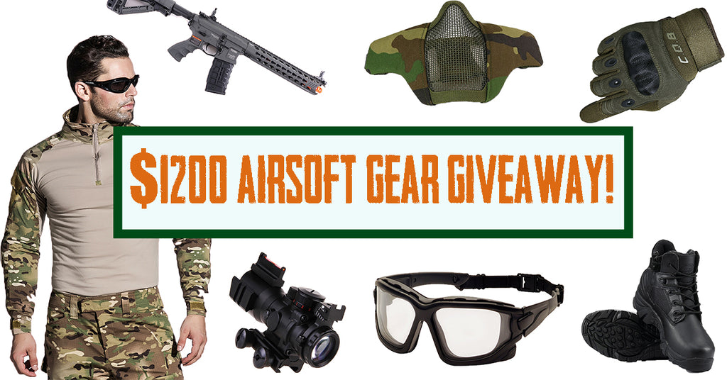 $1200 Airsoft Gear Giveaway (Details To Enter HERE)