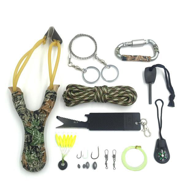 12-in-1 Survival Kit With Carrying Case.