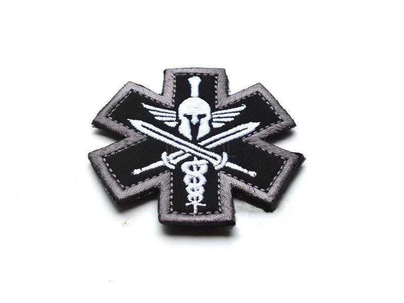 Badges 3d Spartan Medic Tactical Embroidered Military Emt Morale Badge