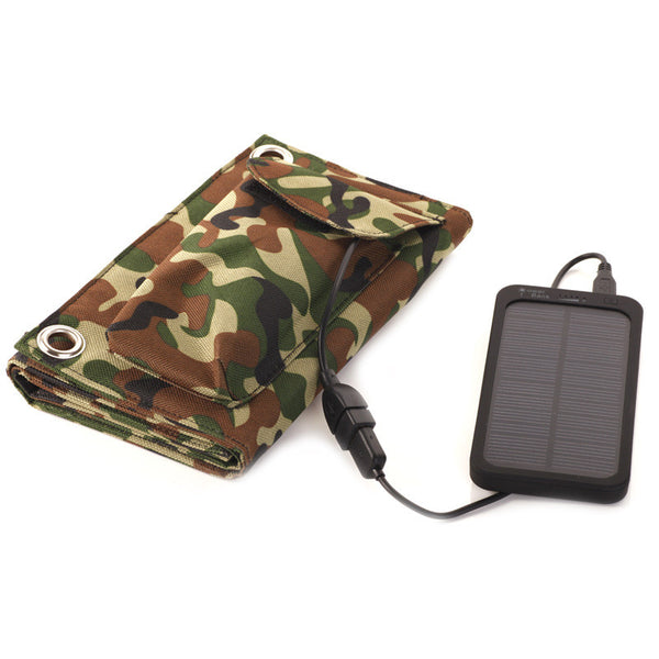 8w Foldable Solar Panel Portable Power Bank for iPhones.