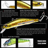 Professional Wobbler Slow Sinking Minnow 1-2M Depth Fishing Lure Bass Pike Artificial Baits Peche