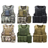 Body Molle Armor Hunting Vest Outdoor Jungle Equipment with 7 Colors