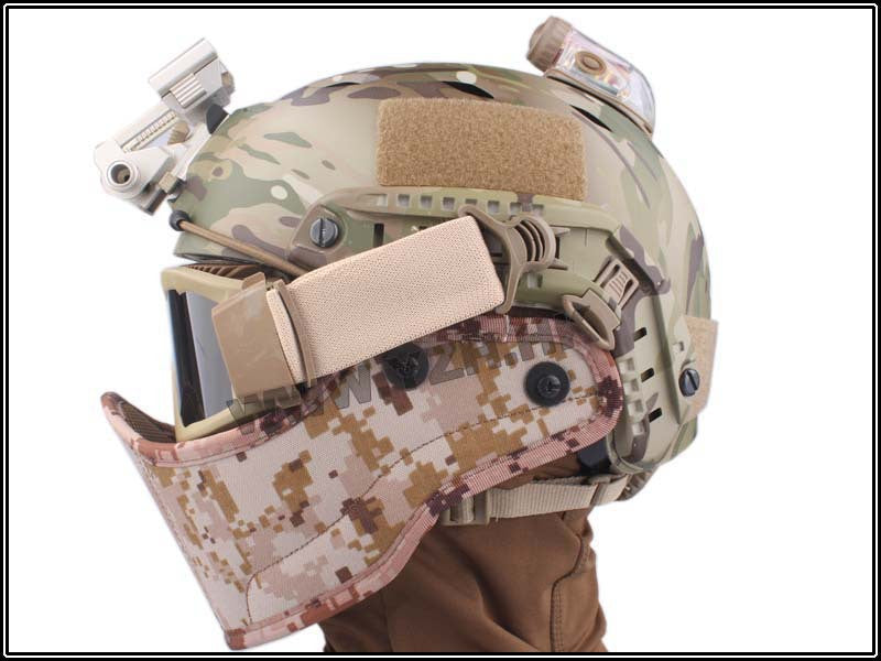 Tactical Helmet Face Cover.