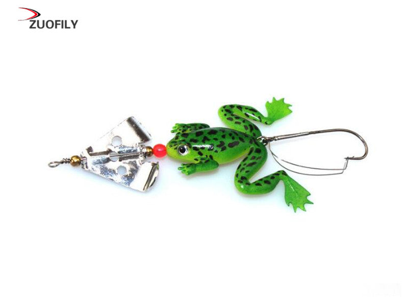 Frog Fishing Spinner Lures