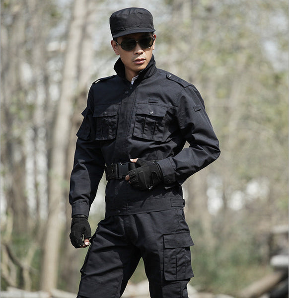 Black Clothing Tactical Training Uniform Set