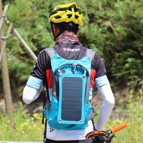 The Solar Backpack - 6.5W Solar Panel With USB Charger.