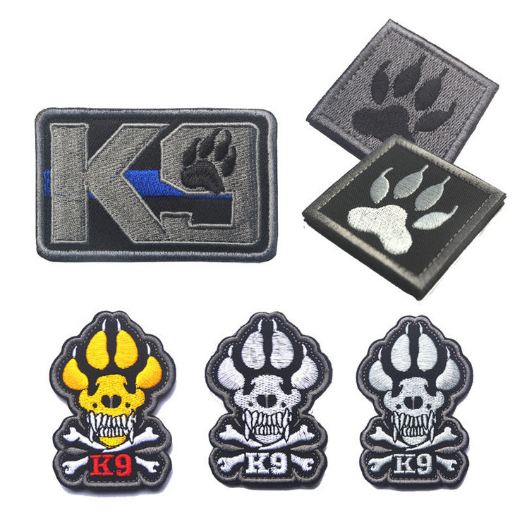 K-9 TACTICAL ISAF ATTACK DOGS OF WAR OEF OIF BADGE MORALE  MILITARY PATCHES HOOK/LOOP 7*4.8CM