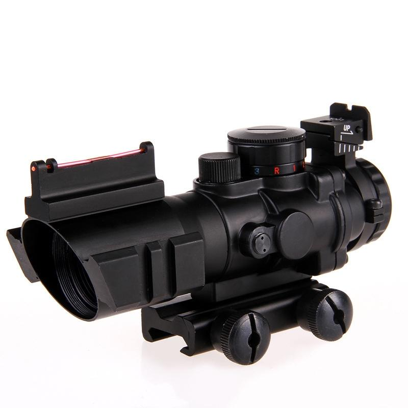 4x32 Green/Red Illuminated Scope with Laser Iron Sights