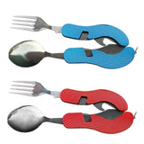 Foldable Utensils for Camping or Hiking.