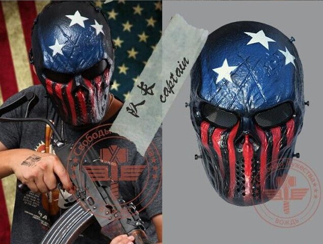 THE CAPTAIN - Tactical Full Face Mask - Airsoft or Paintball Mask!.