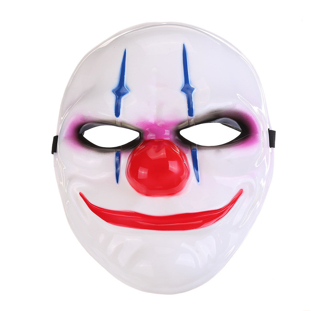 What are some common characteristics of clown faces?