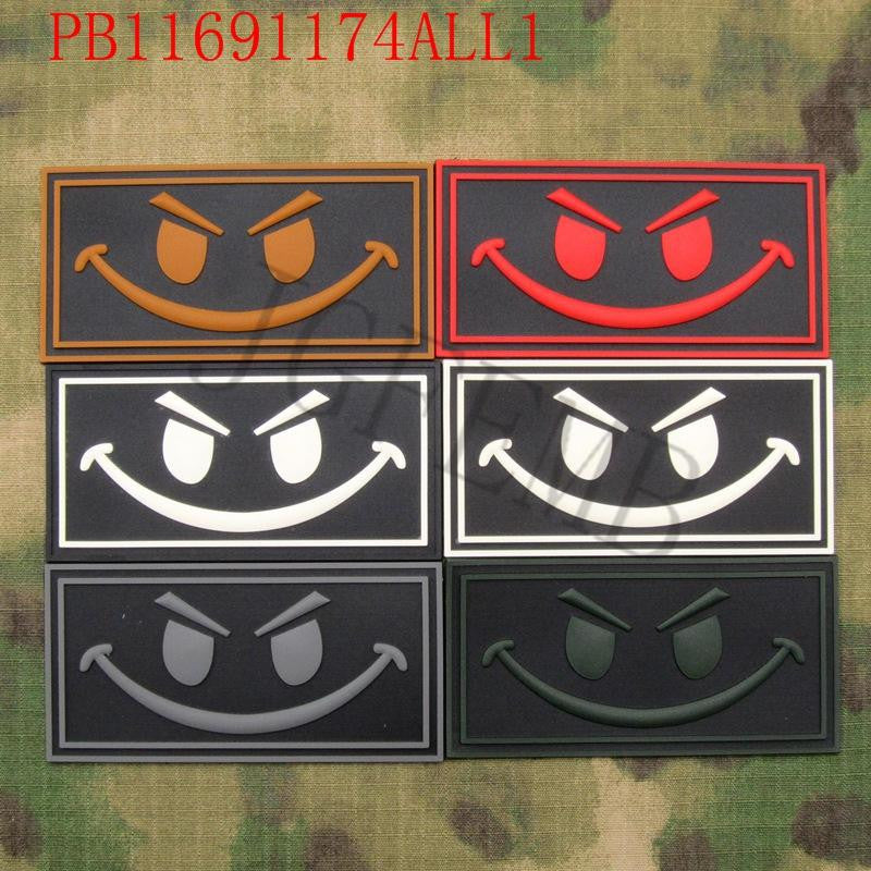 SealTeam Smiley Face Morale Military Tactics 3D PVC patch Badges